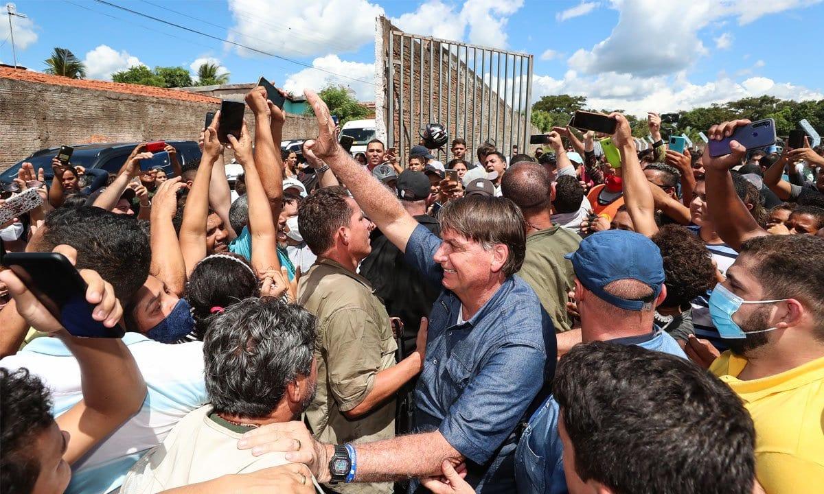 Jair Bolsonaro em passagem por Senador La Rocque, no Maranhão. Em 21 de maio de 2021 [Isac Nobrega/ Presidencia da República]