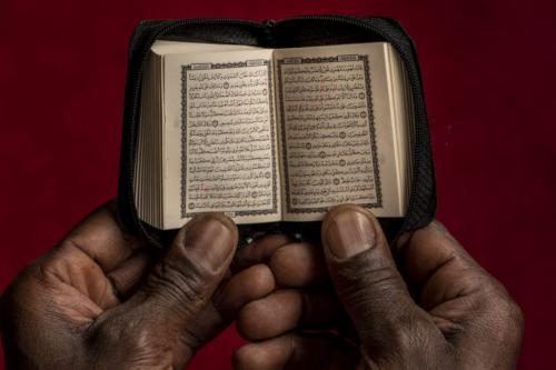 A exposição 'Tarikh al-Brasil', do fotógrafo brasileiro Marcelo Schellini, retrata a comunidade árabe africana do entorno de mesquitas em São Paulo. [Foto : Marcelo Schellini]