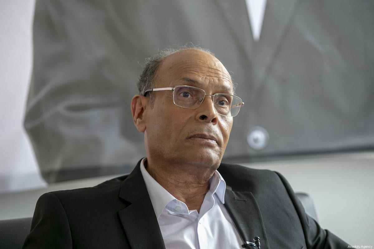 Moncef Marzouki, ex-presidente tunisiano, na capital Túnis, 1° de setembro de 2019 [Yassine Gaidi/Agência Anadolu]