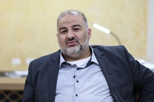 Mansour Abbas, líder da Lista Árabe Unida (Ra'am) em Jerusalém, 31 de Março de 2021 [Mostafa Alkharouf/Agência Anadolu]