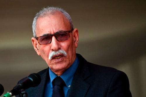 Brahim Ghali, secretário-geral da Frente Polisário, em 14 de setembro de 2019 [Tony Karumba/AFP/Getty Images]