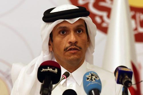 Ministro das Relações Exteriores do Catar, sheikh Mohammed bin Abdulrahman Al-Thani, em 11 de março de 2021, em Doha [Karim Jaafar/AFP via Getty Images]