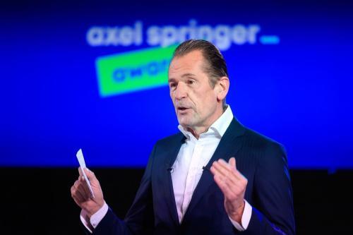 Mathias Döpfner, diretor-executivo da agência Axel Springer, em Berlim, Alemanha, 18 de março de 2021 [Bernd von Jutrczenka/Getty Images]