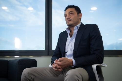 Empresário egípcio Mohamed Ali Barcelona na Espanha, em 23 de outubro de 2019 [JOSEP LAGO/AFP/Getty Images]