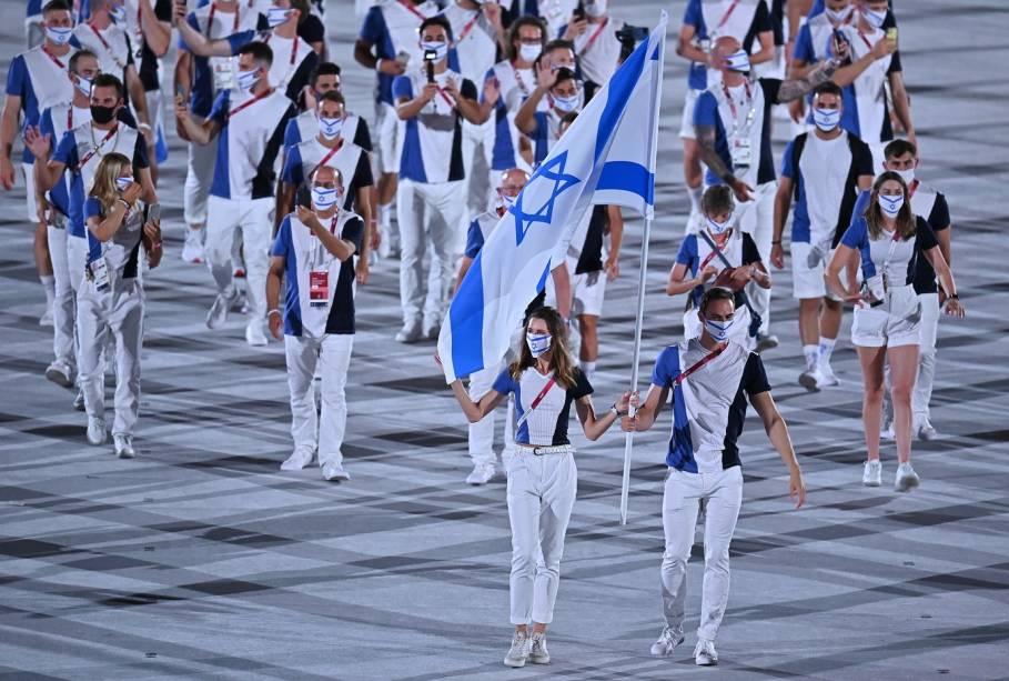 Delegação israelense na abertura das Olimpíadas [Youtube]