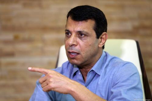 Ex-oficial sênior palestino do Fatah, Muhammed Dahlan, em 16 de setembro de 2015 [STR/AFP/Getty Images]