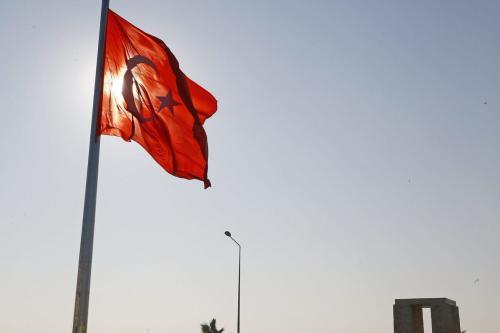 Bandeira da Turquia, 11 de dezembro de 2016 [Cem Öksüz/Agência Anadolu]