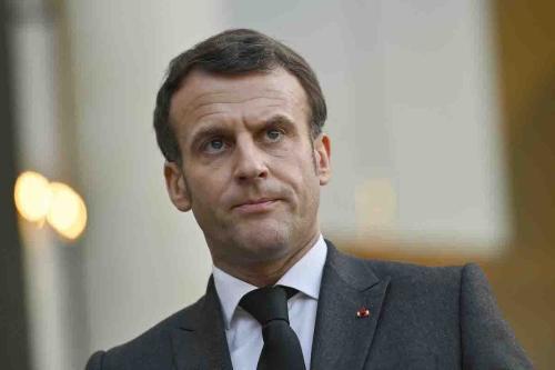 Presidente da França Emmanuel Macron em Paris, 23 de março de 2021 [Julien Mattia/Agência Anadolu]
