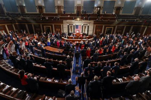 Primeira sessão do 117º Congresso no Capitólio dos EUA, em 03 de janeiro de 2021 em Washington, DC [Tasos Katopodis/ Getty Images]