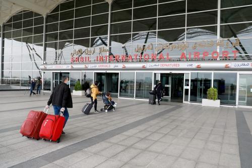 Aeroporto Internacional de Erbil, Iraque, 16 de fevereiro de 2021 [Yunus Keles/Agência Anadolu]