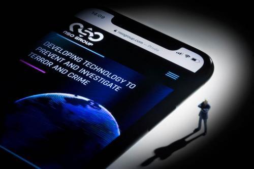 Website da empresa israelense NSO Group, desenvolvedora do spyware Pegasus, em 21 de julho de 2021 [Joel Saget/AFP via Getty Images]