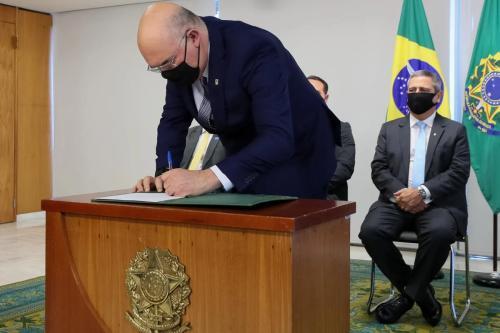 Posse do ministro Milton Ribeiro, em 17 de julhop de 2020 [Isac Nóbrega/ PR]