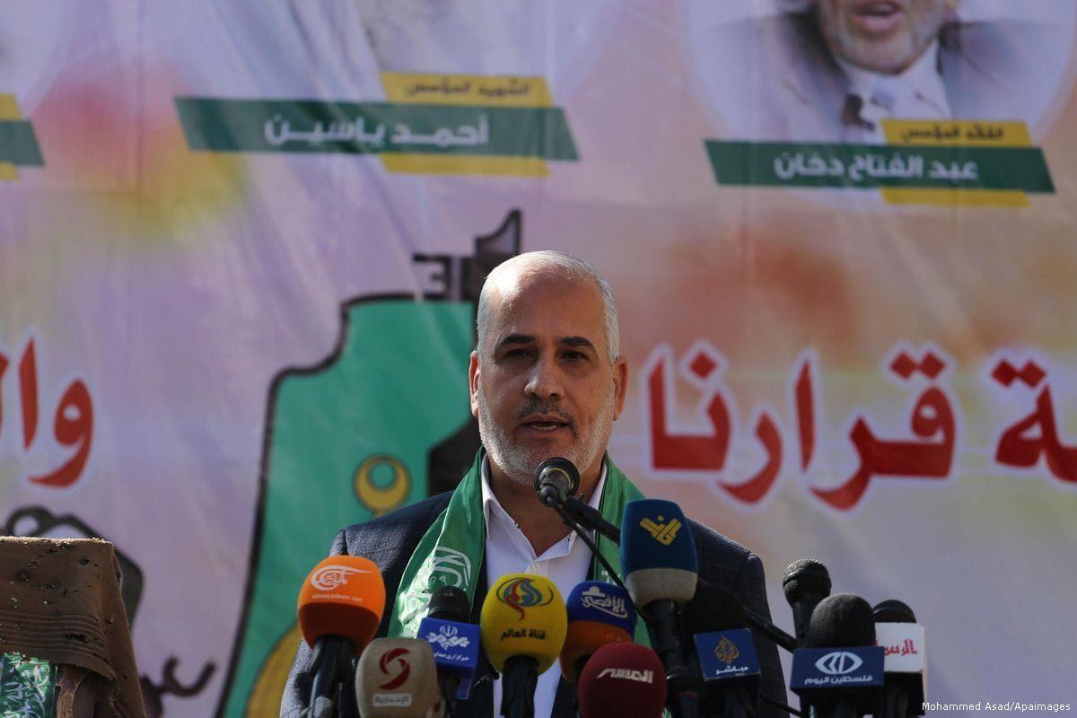 Fawzi Barhoum, porta-voz do Hamas, 22 de dezembro de 2017 [Mohammed Asad/Apaimages]