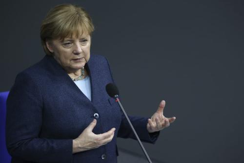 Chanceler da Alemanha Angela Merkel em Berlim, 16 de dezembro de 2020 [Abdulhamid Hoşbaş/Agência Anadolu]