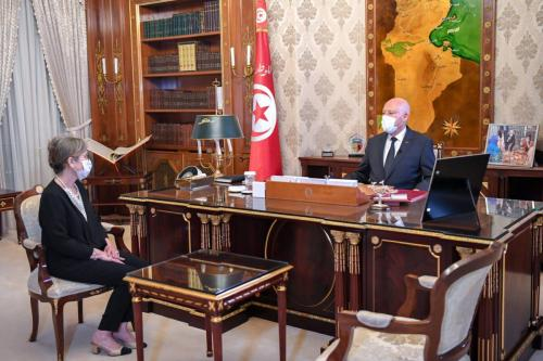 A recém-nomeada primeira-ministra da Tunísia, Najla Bouden [NajlaBouden / Twitter]