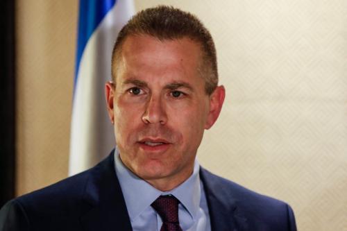 Gilad Erdan, embaixador de Israel na ONU, em Jerusalém ocupada, 11 de dezembro de 2018 [AHMAD GHARABLI/AFP/Getty Images]