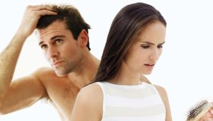 man women losing hair