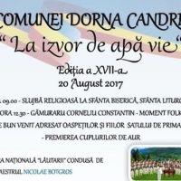 """Programul complet al Festivalului """"La izvor de apă vie"""" de la Dorna Candrenilor, ediția 2017"""