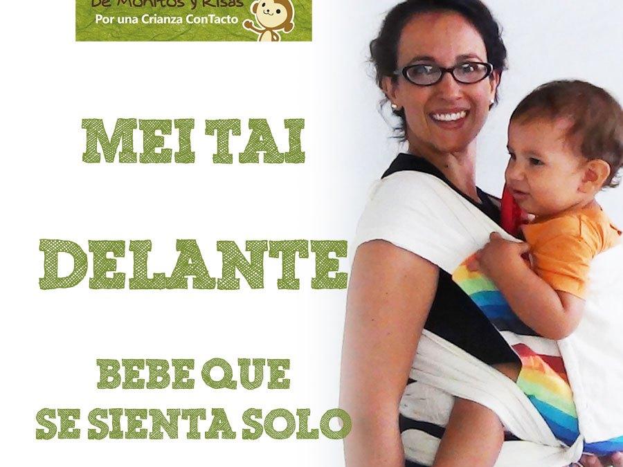 Mei Tai delante con un bebé que se sienta solo