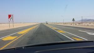 Durch die Wüste nach Swakopmund.