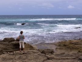 Rauhes Wetter, frischer Wind. Am Cape Vidal haben wir die Küste zum indischen Ozean erreicht.