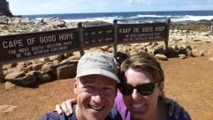 Das Kap der guten Hoffnung ist der südwestlichste Punkt Afrikas. Also irgendwie schräg.
