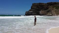 Dias Beach. Das Wasser ist hier im Sommer immer eiskalt wegen der Strömung aus der Antarktis.