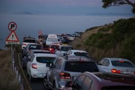 Kaum ist die Sonne weg wollen alle wieder runter und die, die zu spät sind, noch hoch. Es ist ein einziges Verkehrschaos.