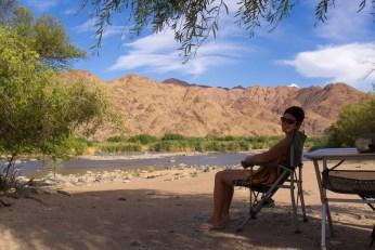 Einzigartige Landschaft am Südufer des Oranje River.