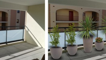 Aménagement d\'un balcon-terrasse contemporain | monjardin-materrasse.com