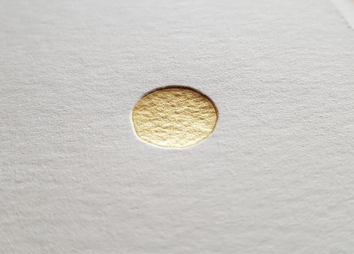 Letterpress Foliedruk Stip mat goud