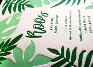 Letterpress Roos