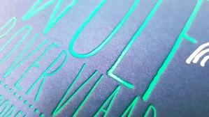 Pigment foliedruk letterpress