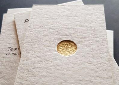 Foliedruk letterpress visitekaarten