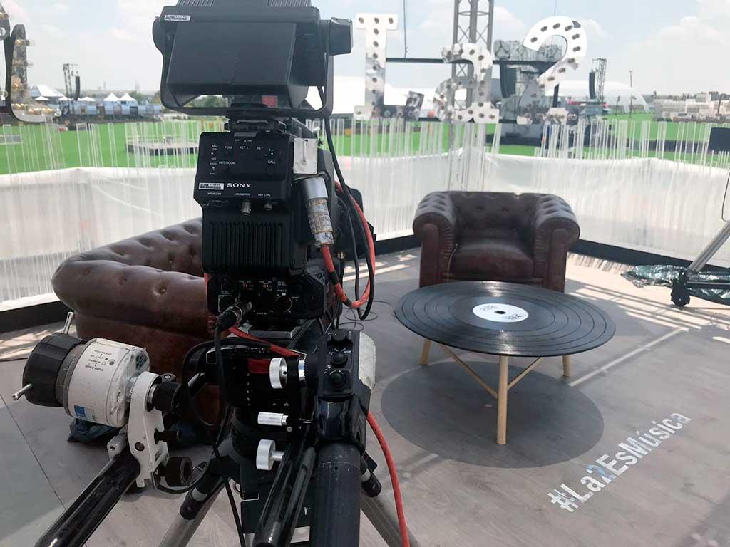 Detalle de cámara set tv TVE