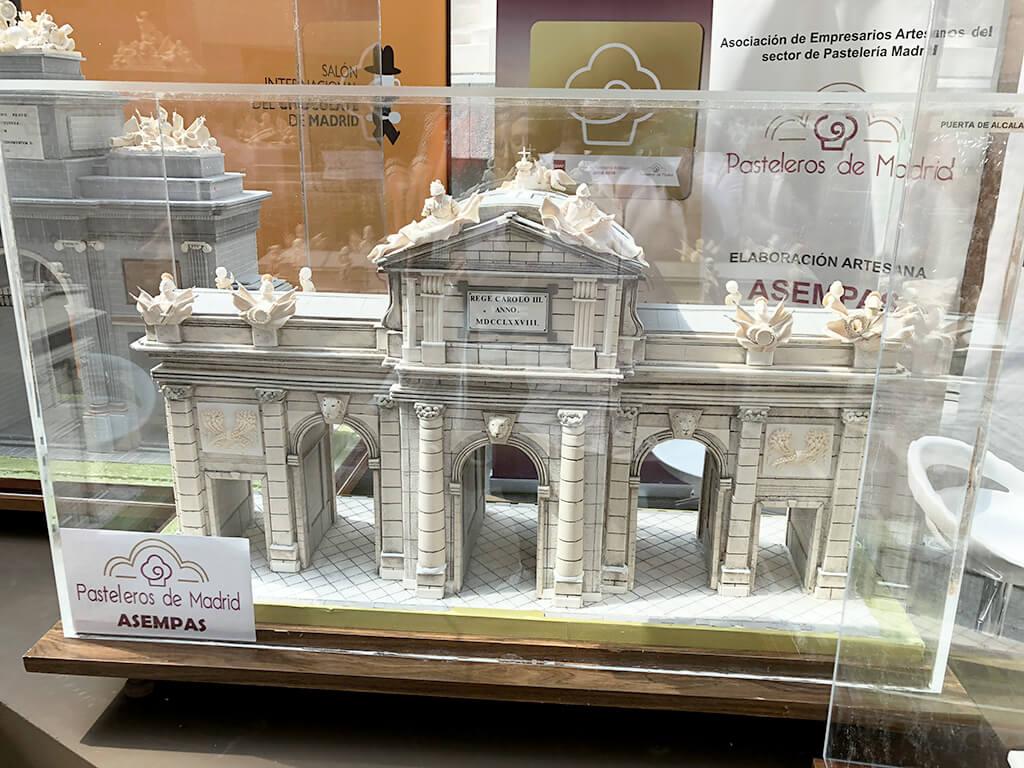Escultura de Chocolate de la Puerta de Alcalá en Salón Internacional del Chocolate