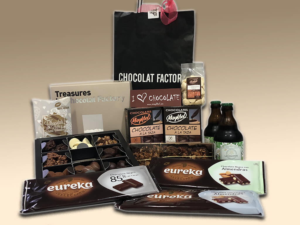Varios productos de chocolate