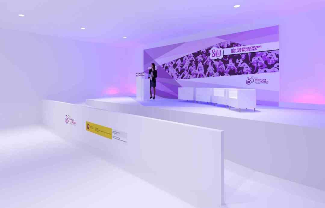 Diseño 3d del escenario lateral