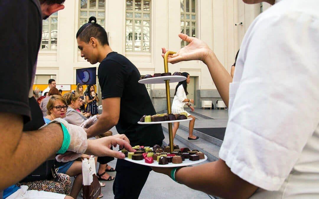 Salón del Chocolate de Madrid muestras chocolate