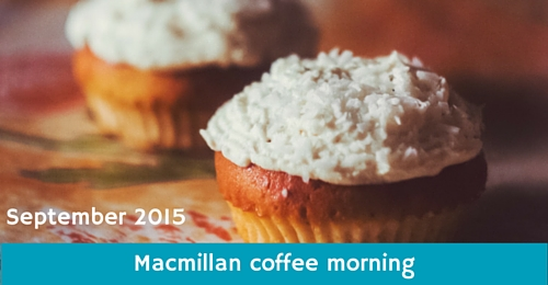 Macmillan coffee morning at Monkey Tree Holiday Park