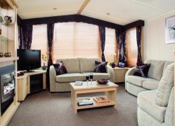 Holywell Holiday Home living room at Monkey Tree Holiday Park