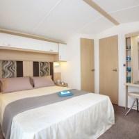 Holywell Holiday Home double bedroom at Monkey Tree Holiday Park