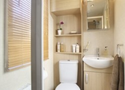 Holywell Holiday Home shower room at Monkey Tree Holiday Park