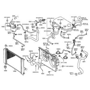 Toyota OEM Radiator Hose – Celica All 0005 – Upper   Monkeywrench Racing