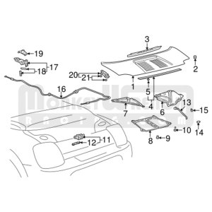 Toyota OEM Cable – Engine Lid (Boot) Release – MR2 Spyder