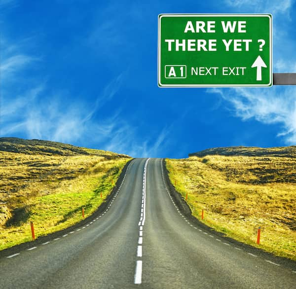 Are We There Yet Roadsign