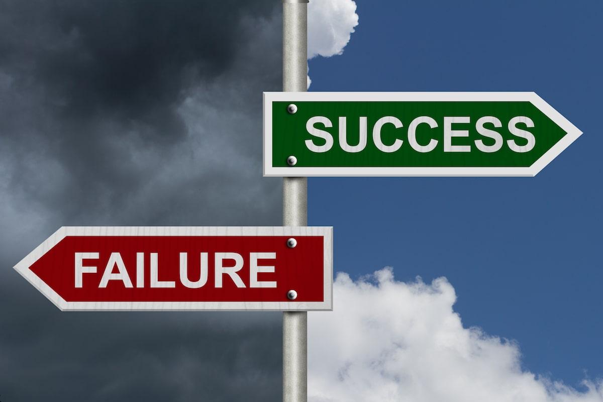 Success Failure Sign Posts