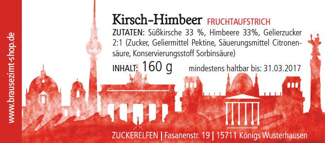 Kirsch-Himbeer-Fruchtaufstrich Brausezimt