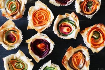 Filoteig Gemüse-Rosen Rezept