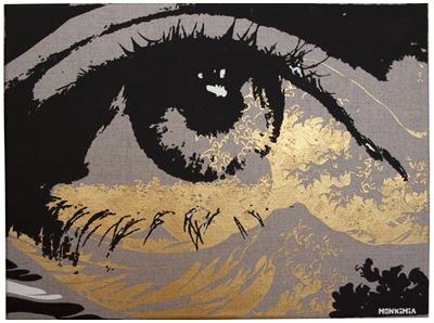 Monkimia – Beobachtung 30cm x 40cm – VERKAUFT